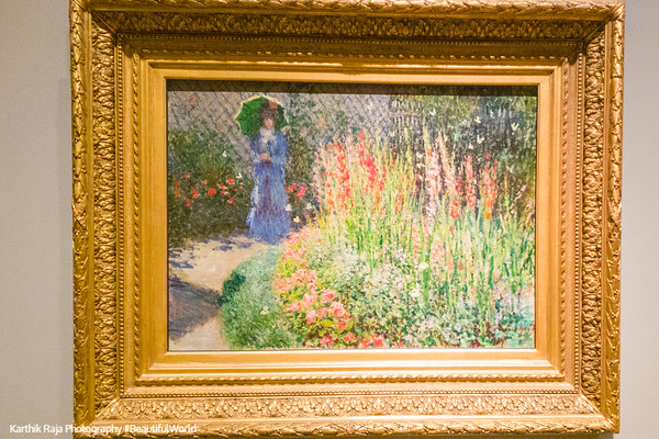 Rounded flower bed, Claude Monet, Detroit Institute of Arts, Detroit, Michigan