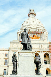 John Albert Johnson, 3 times governor of Minnesota, Minnesota State Capitol, St. Paul