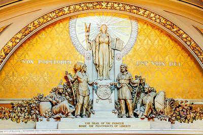 Minnesota,the Spirit of Government, designed by Carl Brioschi, House of Representatives, Minnesota State Capitol, St.Paul