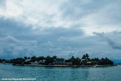 Islands around Miami, Florida
