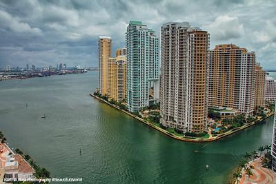 Miami River meets Biscayne Bay, Brickell Key