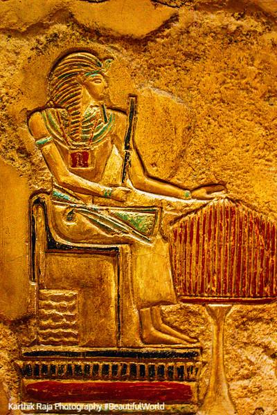 Wall paintings inside the Luxor, Las Vegas, NV