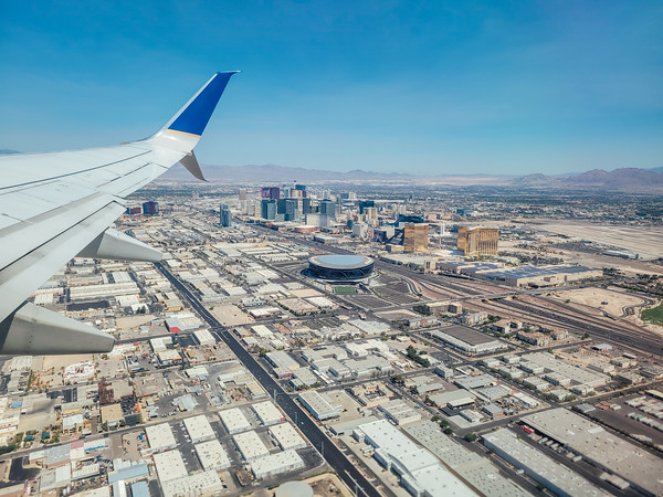 Skyline view, Las Vegas to Chicago air route