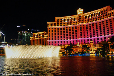 Dancing fountains of Bellagio, Las Vegas, NV