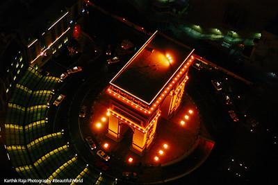 Paris Hotel's Arc de Triomphe from the Eiffel, Las Vegas, NV