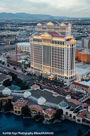 Caesars Palace from the sky, Las Vegas, NV