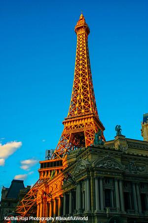 Eiffel tower at the Paris Hotel, Las Vegas, NV