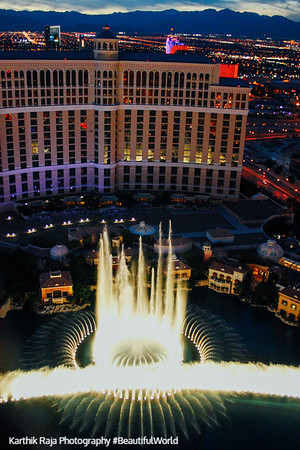 Dancing fountains of Bellagio, Las Vegas, NV