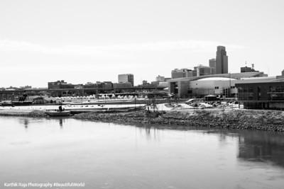 Omaha, Nebraska across the Mississippi