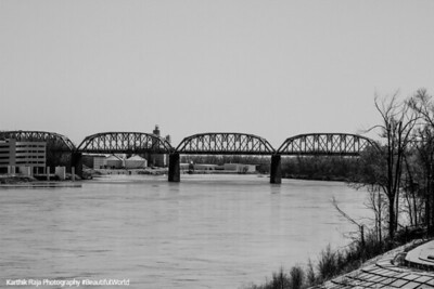 Railway bridge across the Mississippi, Omaha, Nebraska
