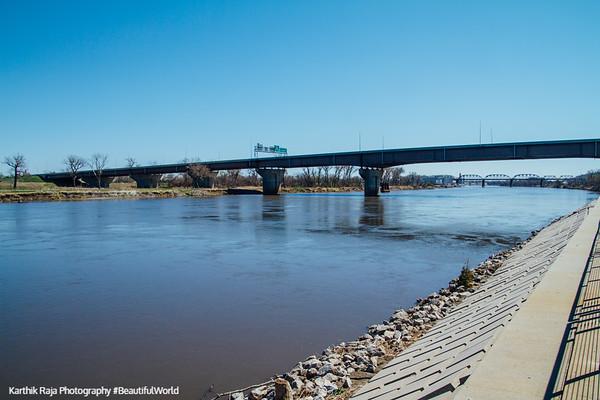 I-480 across Mississippi River, Omaha, Nebraska