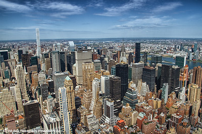 Midtown Manhattan skyline, looking north from the Empire State Building; 432 Park, Chrysler Building, New York City