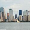 Two, Three, Four World Financial Center, New York City skyline