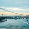 View of Manhattan bridge from Brooklyn bridge, New York City