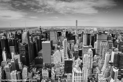 Midtown Manhattan skyline, looking north from the Empire State Building; 432 Park,  New York City
