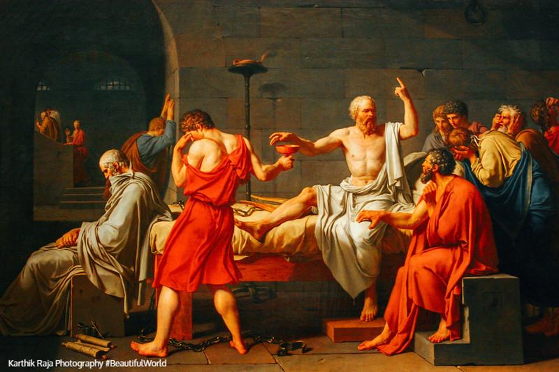 The Death of Socrates, Jacques-Louis David, 1748-1825,The Metropolitan Musuem of Art, New York City