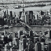 Downtown Manhattan from the sky, Brooklyn Bridge, New York City