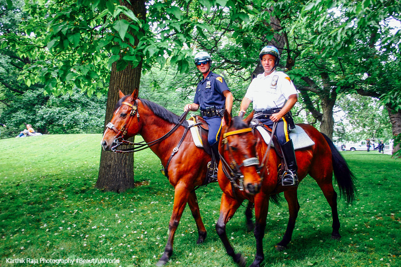 Mounted police, Central Park, New York City
