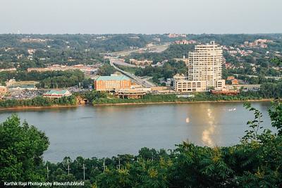 Ohio River, between Cincinnati and Newport, Kentucky