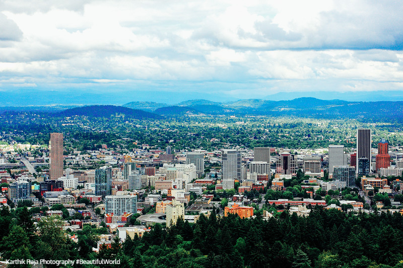 View of Portland Oregon from OHSU