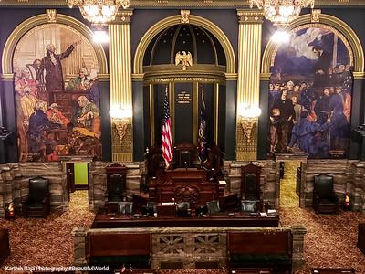 Senate Chamber, Harrisburg State Capitol Building, Pennsylvania