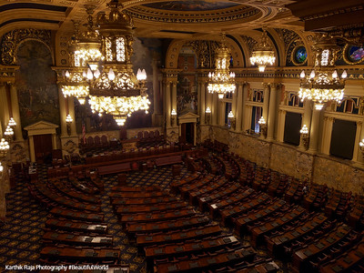 The Chamber of the House of Representatives , Harrisburg State Capitol Building, Pennsylvania