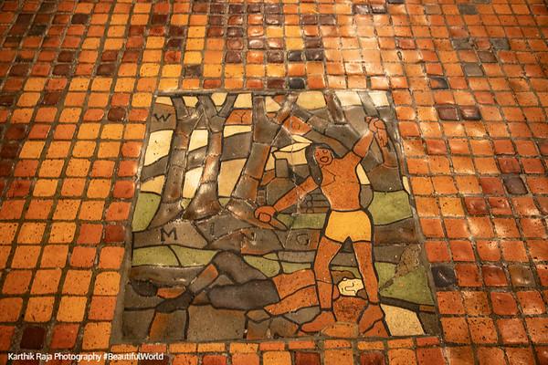 Moravian Mosaic Tiles, Harrisburg State Capitol Building, Pennsylvania