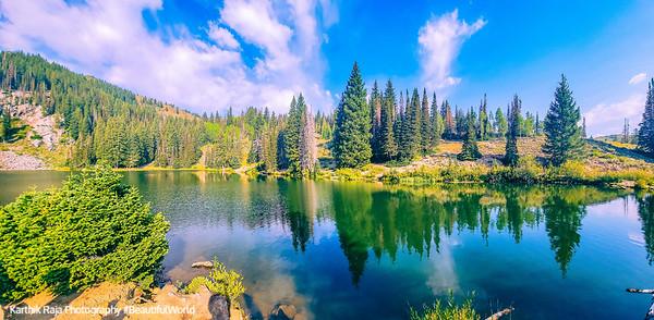 Reflection, Bloods Lake Trail, Park City, Utah