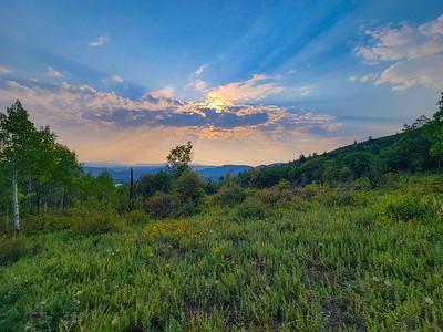 Hiking, Iron Mountain Trail, Park City, Utah