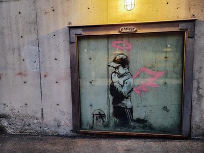 Banksy, Street art, Downtown, Park City, Utah