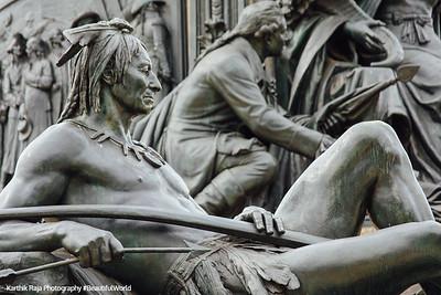 President George Washington statue - Close up of the base