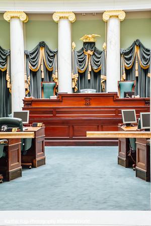 Senate chamber, Rhode Island State House, Providence, Rhode Island