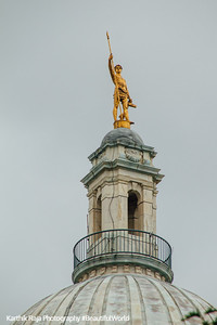 """Independent Man"" atop the dome, Rhode Island State House, Providence, Rhode Island"