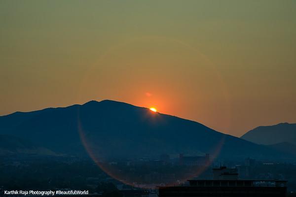 Sunrise from the Grand America Hotel, Salt Lake City, Utah