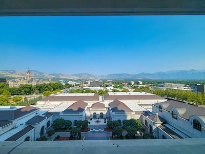 View from Grand America Hotel, Salt Lake CIty, Utah