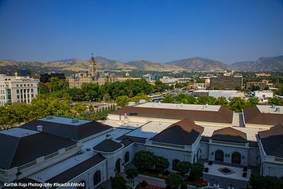 View from the Grand America Hotel, Salt Lake City, Utah