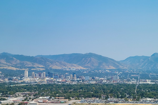 Salt Lake City, Utah with the Wasatch Mountain Range