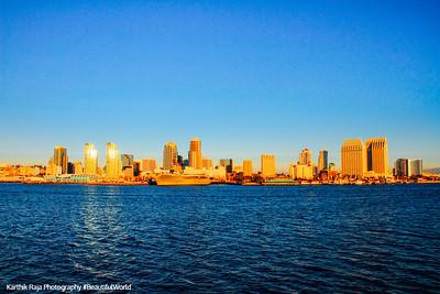 San Diego skyline from San Diego Bay