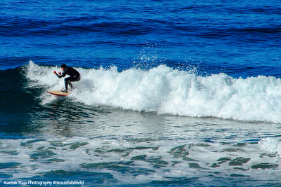 Setup for the tube, surfing in La Jolla, San Diego, California