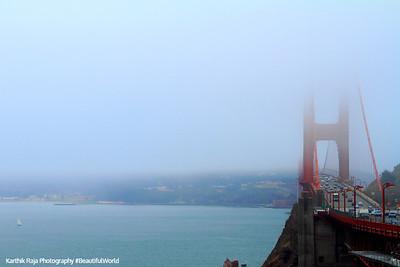 Foggy Golden Gate Bridge, Golden Gate National Recreation Area, San Francisco, California