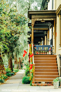 Porches, Jones Street, Savannah, Georgia
