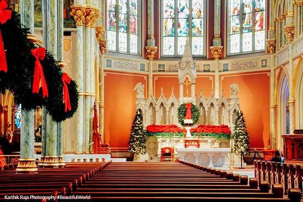 Cathedral of St. John the Baptist, 1873-1896, Lafayette Square, Savannah, Georgia
