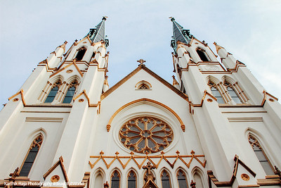 Cathedral of St. John the Baptist, 1873-1896, Lafayette Square, Savannah, Georgia