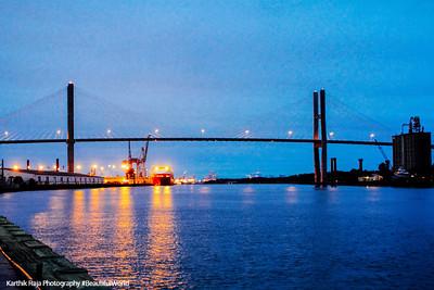Talmadge Bridge, Savannah River