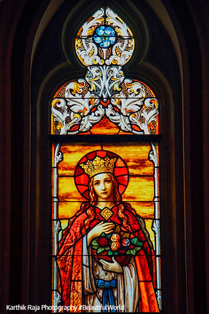 Stained Glass, Cathedral of St. John the Baptist, 1873-1896, Lafayette Square, Savannah, Georgia