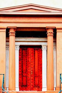 Door, Trinity United Methodist Church, 1848, Savannah, Georgia