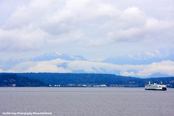 Puget Sound and the Olympic Mountains, Seattle, Washington