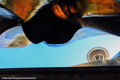 Experience Music Project - Franck Gehry architect, Space Needle, Seattle, Washington
