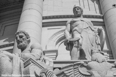 Strength by Karl Bitter, statues on the outside of the Capitol building, Madison, Wisconsin