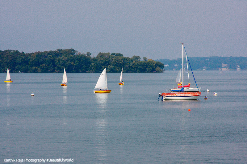 Lake Mendotta from Memorial Union in the University of Wisconsin, Madison